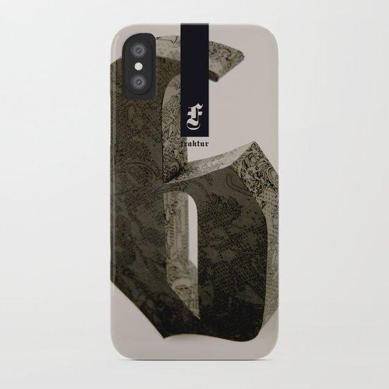 Blackletter iPhone Case
