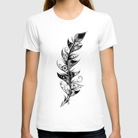 feather T-shirts featuring Feather by LouJah