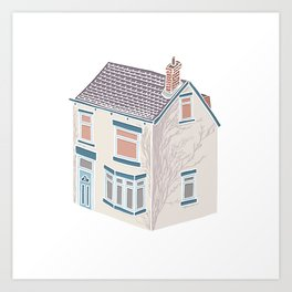 Little Village House Art Print