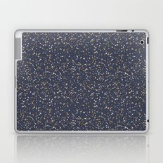Speckles I: Dark Gold & Snow on Blue Vortex Laptop & iPad Skin