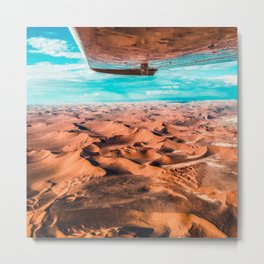 A flight over namibia Metal Print