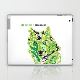 Wolf - do not let it disappear Laptop & iPad Skin