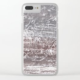 Gray nebulous wash drawing Clear iPhone Case