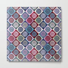 Colored Wood Pattern 3 / Color Variation Metal Print