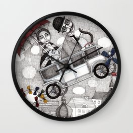 Going on Holiday Wall Clock