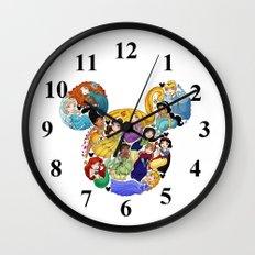 Princess Mickey Ears Wall Clock