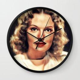 Rita Johnson, Vintage Actress Wall Clock