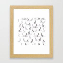 Whippet Pattern Framed Art Print