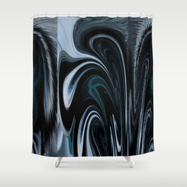 Inversion Mushroom With A Flip And Fluff Shower Curtain