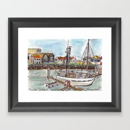 The Harbour, Figueira Da Foz, Portugal Framed Art Print