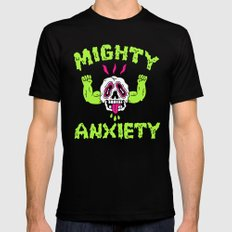 Mighty Anxiety MEDIUM Mens Fitted Tee Black