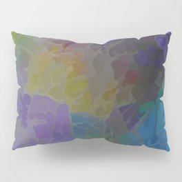 Rainbow Mosaic Abstract Pillow Sham