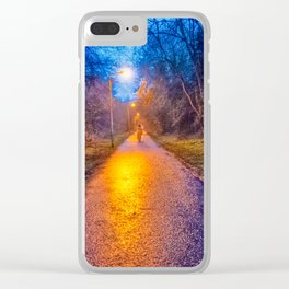 Autumn Walk at Sunset Clear iPhone Case