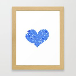 A Heart Of Blue Flowers Framed Art Print