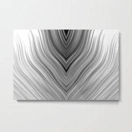 stripes wave pattern 3 bwgri Metal Print