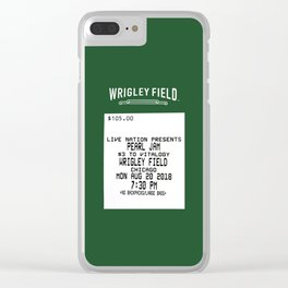 Concert Ticket Stub - Wrigley Field Clear iPhone Case