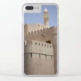 Arabian Castle Clear iPhone Case