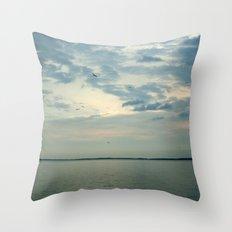 Lake Erie Twilight Throw Pillow