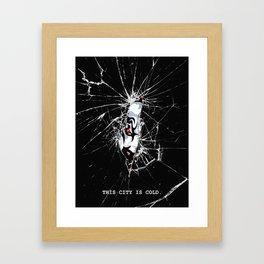 COLD CITY Framed Art Print
