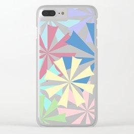Colourful Umbrellas Clear iPhone Case