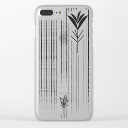 Black & White Siam Tulips Clear iPhone Case