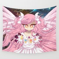 madoka Wall Tapestries featuring You Are Not Alone by Corpse Cutie