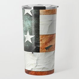Painted Stars And Stripes Travel Mug