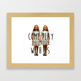 Come play with us Framed Art Print