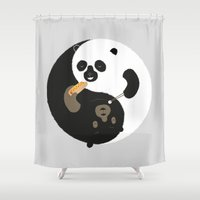 buddhism Shower Curtains featuring Yin-Yank by Wharton