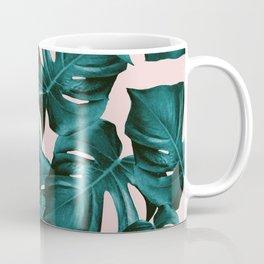 Tropical Monstera Leaves Pattern #1 #foliage #decor #art #society6 Coffee Mug