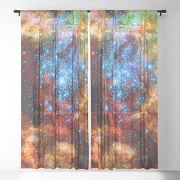 Stellar Nursery in Tarantula Nebula Sheer Curtain