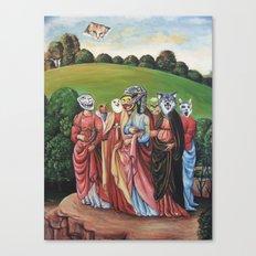 Internet Memes in a Landscape Canvas Print