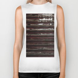 Rusted Metal Chipped Paint Texture - Industrial Line Pattern Biker Tank