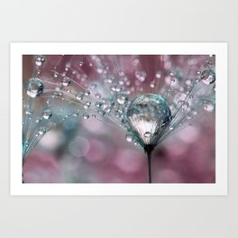 Rasberry Sparkles Art Print