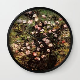 Rosebush in Blossom by Vincent van Gogh Wall Clock