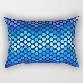 Dot Chevron: Blue violet Rectangular Pillow