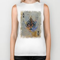 ace Biker Tanks featuring Ace by Michael Creese