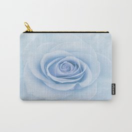Soft Baby Blue Rose Abstract Carry-All Pouch