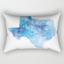 Texas Map Rectangular Pillow
