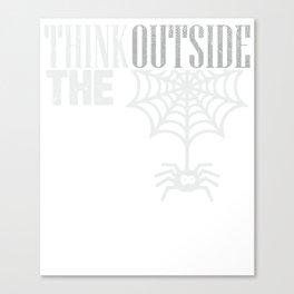 Organic Cotton Spider Web Cobweb Tee Canvas Print