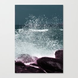 Navy Blue Sea Water Canvas Print