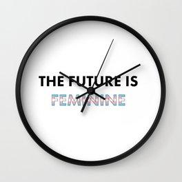 The Future Is Feminine - Female, Trans Wall Clock