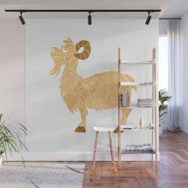 funny Goat cartoon. Wall Mural
