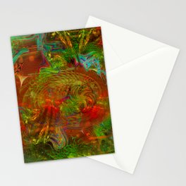 Swirling Stew (abstract, psychedelic, visionary) Stationery Cards