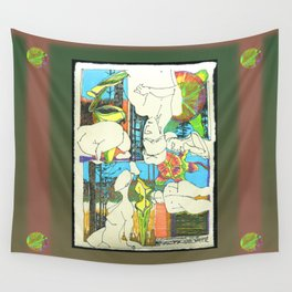 Nude with Pitcher Plants Wall Tapestry