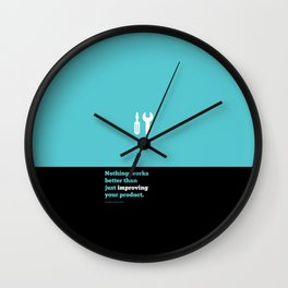 Lab No. 4 - Just improving your product Joel Spolsky Corporate Startup Quotes Poster Wall Clock