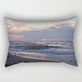 Beach, Sea and Sunset Rectangular Pillow