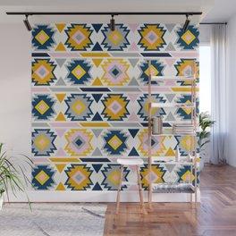 Kilim Abundance Pattern - Slate & Marigold Palette Wall Mural