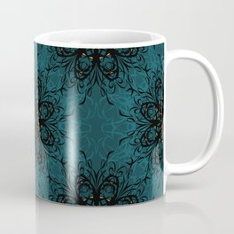 Teal Flourish - Mosaic Coffee Mug