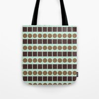 cookie monster Tote Bags featuring Cookie Monster (mint) by Sidrah  Mahmood